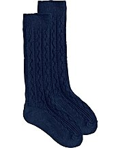 Cable Knee Socks