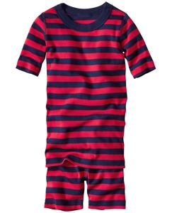 Short John Pajama Set In Organic Cotton
