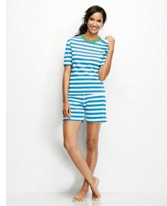 Short John Pajama Set In Organic Cotton