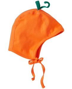 Baby Pumpkin Pilot Cap In Organic Cotton by Hanna Andersson