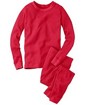 Thermal Long John Pajamas In Organic Cotton