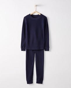 Kids Thermal Long John Pajamas In Organic Cotton by Hanna Andersson