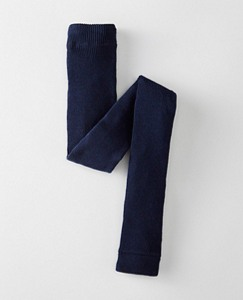 Girls Signature Ribbed Ankle Tights by Hanna Andersson
