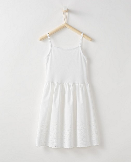 Girls Pure Cotton Eyelet Slip by Hanna Andersson