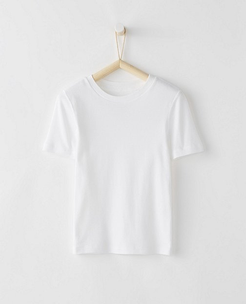 Crew Undershirt In Organic Cotton by Hanna Andersson