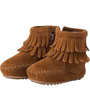 Double Fringe Boots By Minnetonka