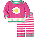 Snail And Flower Sweater Set In Organic Cotton