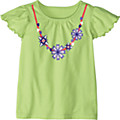 Flutter Sleeve Necklace Tee