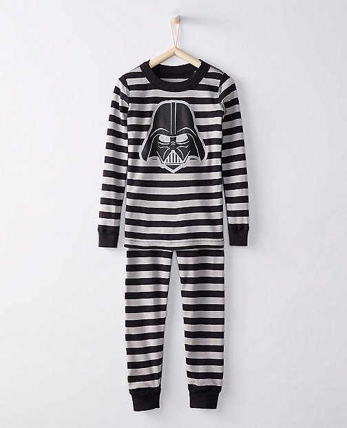 Star Wars™ Vader Stripe Long John Pajamas In Organic Cotton by Hanna Andersson