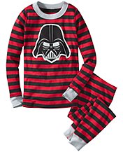 Star Wars™ Vader Stripe Long John Pajamas In Organic Cotton