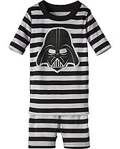 Star Wars™ Vader Stripe Short John Pajamas by Hanna Andersson