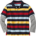 Stripe Mix Polo Shirt