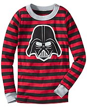 Star Wars™ Vader Stripe Long John Pajama Top In Organic Cotton