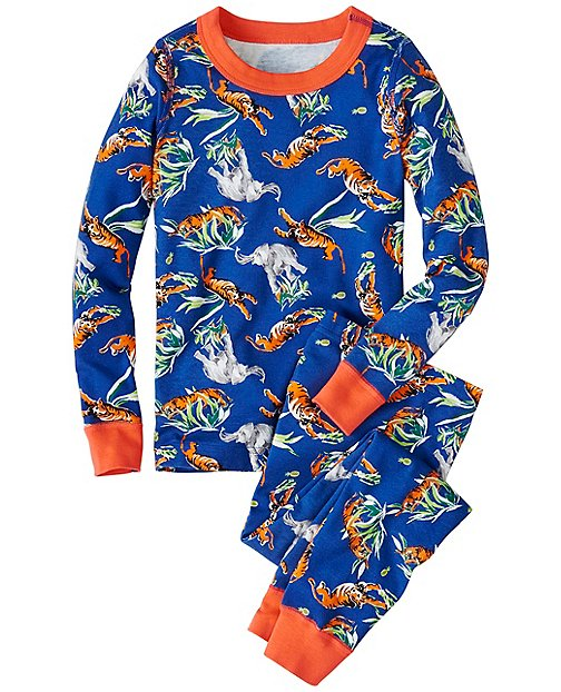 Kids Long John Pajamas In Organic Cotton | Boys Sleepwear
