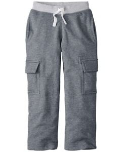 Boys Very Güd Double Knee Cargo Sweats by Hanna Andersson