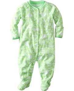 Little Sleepers With Feet In Organic Cotton