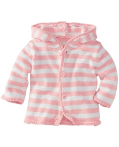 Hoodie Stripe Cardigan In Organic Cotton
