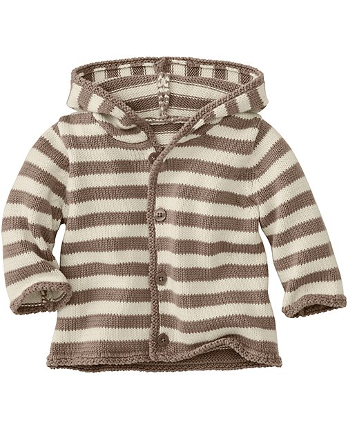 Hoodie Stripe Cardigan In Organic Cotton by Hanna Andersson