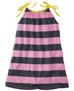 Bold Stripe Pillowcase Dress