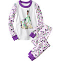 Disney Tiana Stripe Long John Pajamas