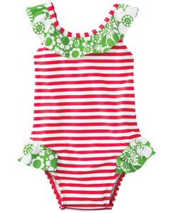 Ruffle Trim One Piece