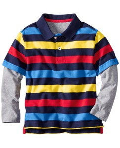 Stripe Mix Polo