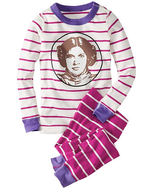 Star Wars™ Princess Leia Long John Pajamas In Organic Cotton by Hanna Andersson