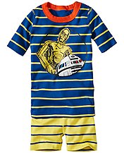 Star Wars™ R2-D2/C-3PO Short John Pajamas In Organic Cotton
