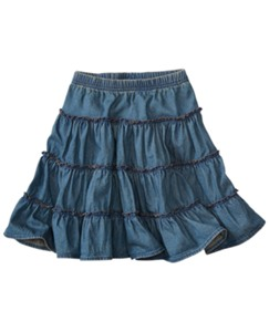 Twirly Chambray Skirt