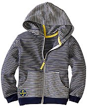 Mod Stripe Hoodie In 100% Cotton