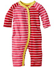 Stripe Happy Romper In Organic Cotton