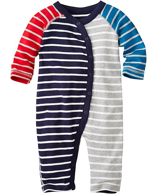 Stripe Happy Romper In Organic Cotton by Hanna Andersson