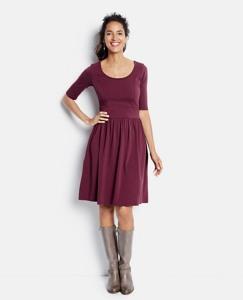 Scoopneck Jersey Dress