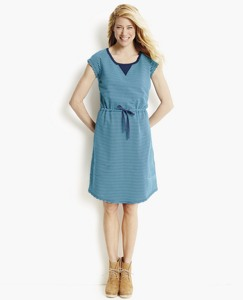 Drawstring Dress in French Terry by Hanna Andersson