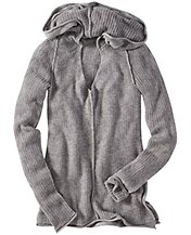 Pointelle Sweater Hoodie
