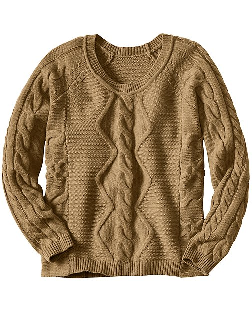 Luxe Heritage Cable Sweater by Hanna Andersson