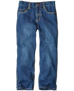 Five Pocket Straight Leg Jeans