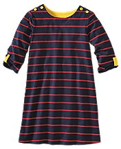 Stripey A-Line Dress