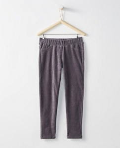 Girls Ribbed Velour Slim Pants by Hanna Andersson