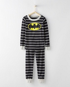 Kids DC Comics™ Batman Long John Pajamas In Organic Cotton by Hanna Andersson