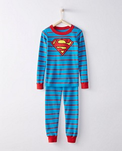 Kids DC Comics™ Superman Long John Pajamas In Organic Cotton by Hanna Andersson
