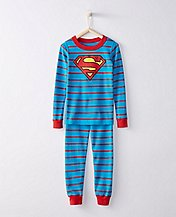 DC Comics™ Superman Long John Pajamas In Organic Cotton by Hanna Andersson