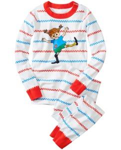 Pippi Longstocking Long John Pajamas In Organic Cotton