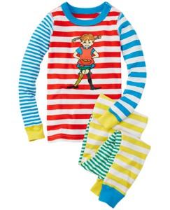 Pippi Longstocking Long John Pajamas In Organic Cotton by Hanna Andersson