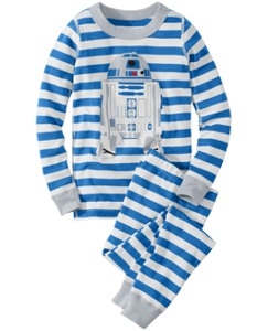 Star Wars™ R2-D2 Stripe Long John Pajamas In Organic Cotton