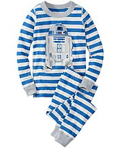 Star Wars™ R2-D2 Stripe Long John Pajamas