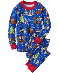 Star Wars™ Holiday Long John Pajamas In Organic Cotton