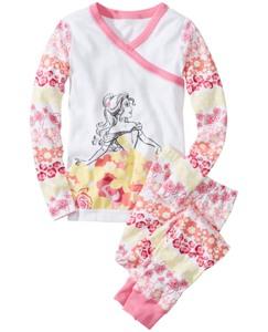 Disney Princess Belle Long John Pajamas In Organic Cotton
