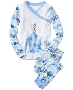 Disney Princess Cinderella Long John Pajamas In Organic Cotton