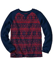 Fair Isle Thermal Crew